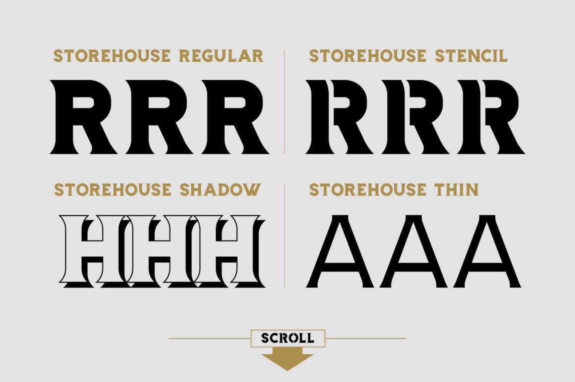 Storehouse Font / Display - FontPlanet