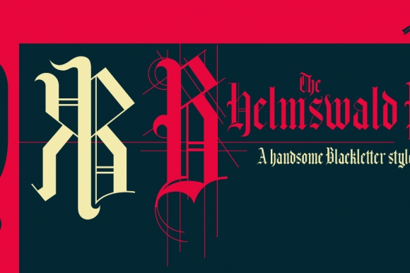Helmswald Post In Blackletter
