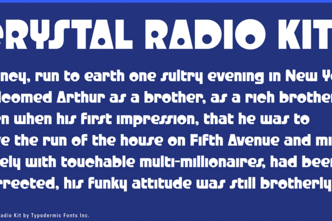 Crystal Radio Kit / Techno - FontPlanet